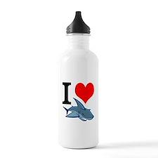 I Heart Sharks Water Bottle