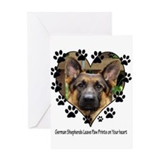 German Shepherds Leave Pawpri Greeting Card
