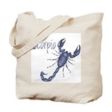 Blue Scorpio Tote Bag