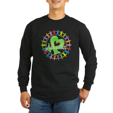 Lymphoma Unite Awareness Long Sleeve Dark T-Shirt