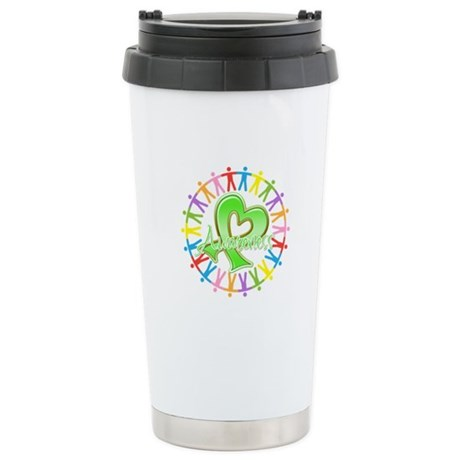 Lymphoma Unite Awareness Ceramic Travel Mug