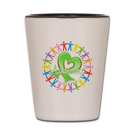 Lymphoma Unite Awareness Shot Glass