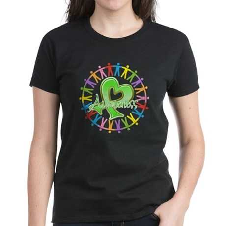 Lymphoma Unite Awareness Women's Dark T-Shirt