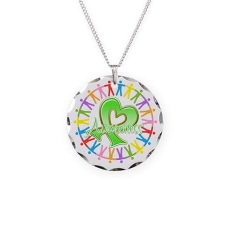 Lymphoma Unite Awareness Necklace Circle Charm