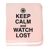 Keep Calm & Watch LOST baby blanket