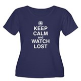 Keep Calm &amp; Watch LOST Women's Plus Size Scoop Nec