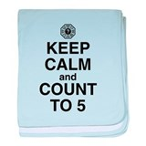 Keep Calm & Count to 5 baby blanket