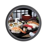 Sushi Time - wall clock