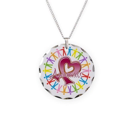 Myeloma Unite Awareness Necklace Circle Charm