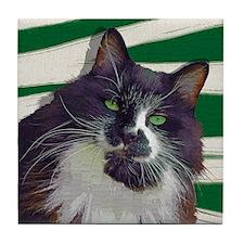 George the Cat Tile Coaster