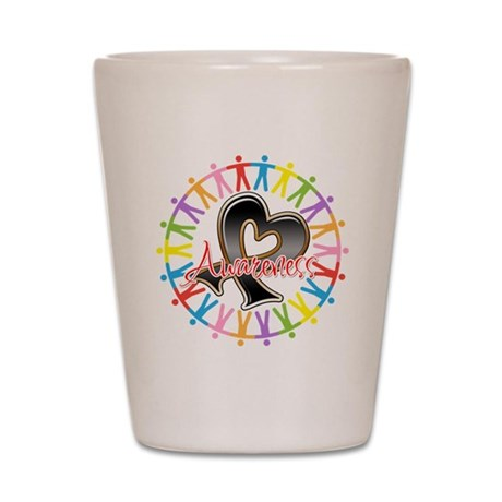 Melanoma Unite Awareness Shot Glass