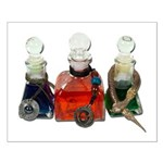 Colorful Potion Bottles with Small Poster