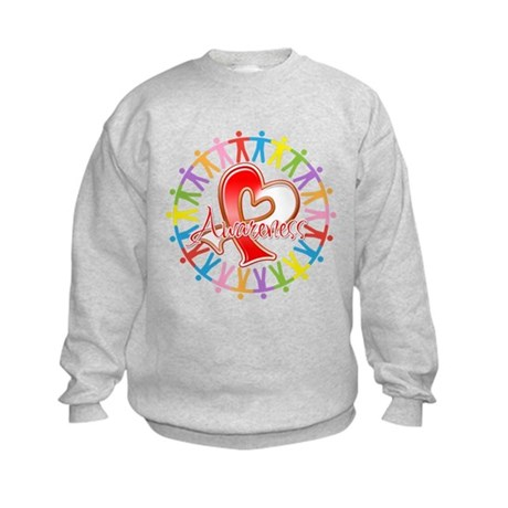 Oral Cancer Unite Awareness Kids Sweatshirt