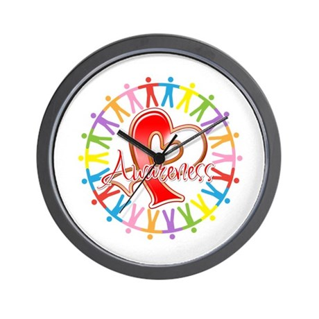 Oral Cancer Unite Awareness Wall Clock