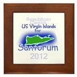 Santorum Virgin Islands Framed Tile