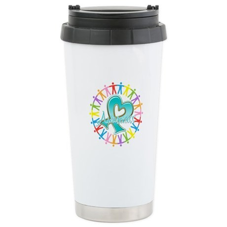 Ovarian Cancer Unite Ceramic Travel Mug