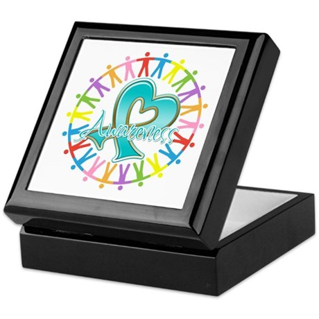Ovarian Cancer Unite Keepsake Box