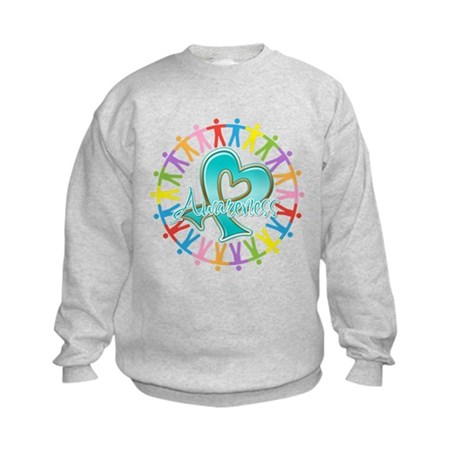 Ovarian Cancer Unite Kids Sweatshirt