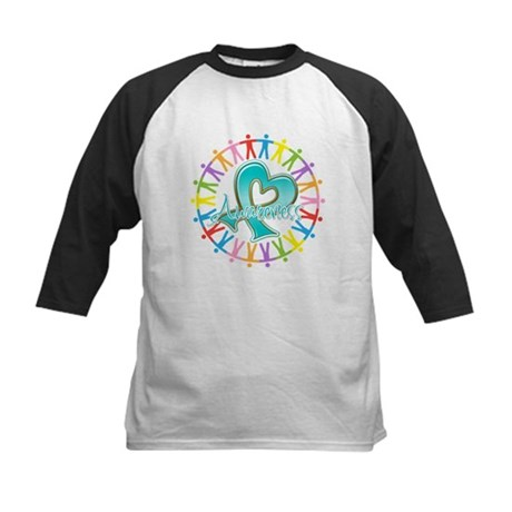 Ovarian Cancer Unite Kids Baseball Jersey