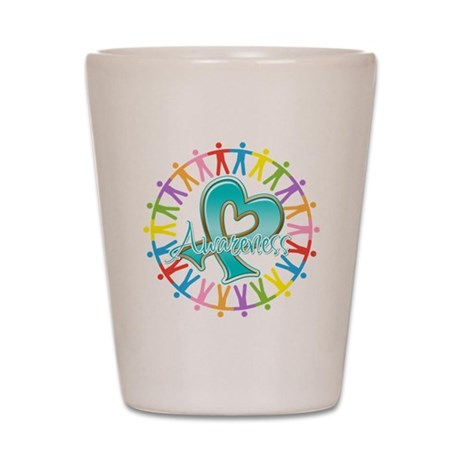 Ovarian Cancer Unite Shot Glass