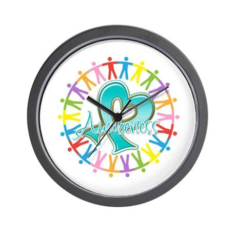 Ovarian Cancer Unite Wall Clock