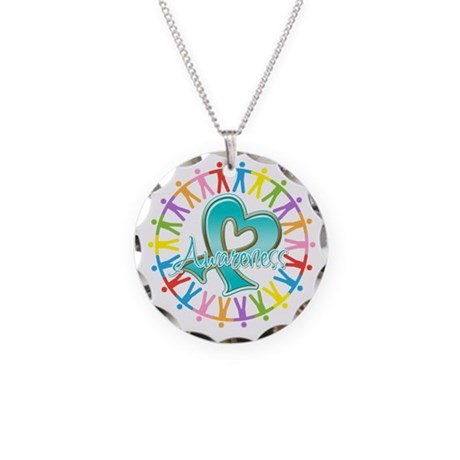 Ovarian Cancer Unite Necklace Circle Charm