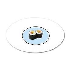 Sushi is Super! 22x14 Oval Wall Peel