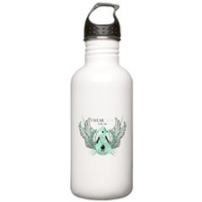 I Wear Teal for my Mom Sports Water Bottle