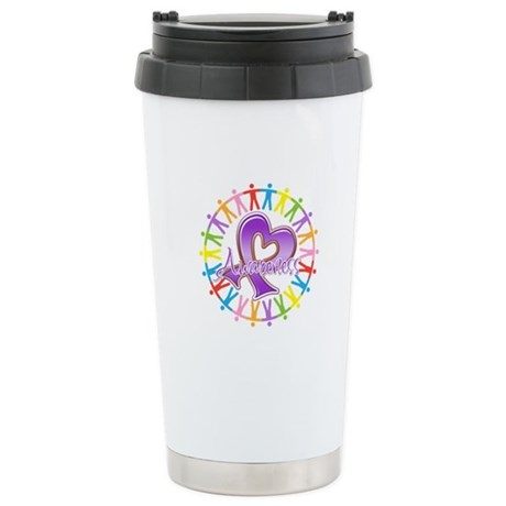 Pancreatic Cancer Unite Ceramic Travel Mug