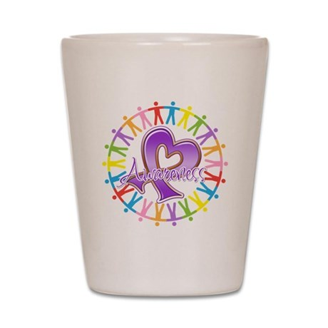 Pancreatic Cancer Unite Shot Glass