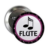 "Flute Musical Notes 2.25"" Button"