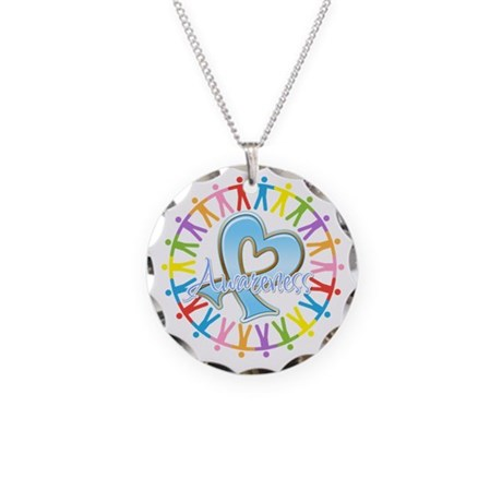 Prostate Cancer Unite Necklace Circle Charm