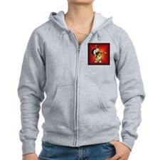 Native American Warrior #6 Zip Hoodie