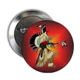 "Native American Warrior #6 2.25"" Button"