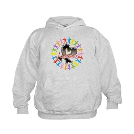 Skin Cancer Unite Awareness Kids Hoodie