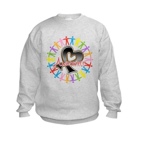 Skin Cancer Unite Awareness Kids Sweatshirt