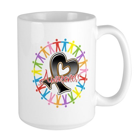 Skin Cancer Unite Awareness Large Mug