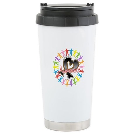 Skin Cancer Unite Awareness Ceramic Travel Mug