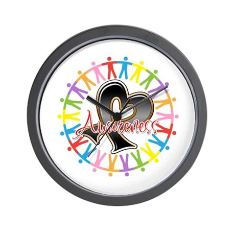 Skin Cancer Unite Awareness Wall Clock