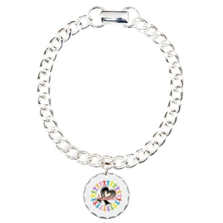 Skin Cancer Unite Awareness Charm Bracelet, One Ch