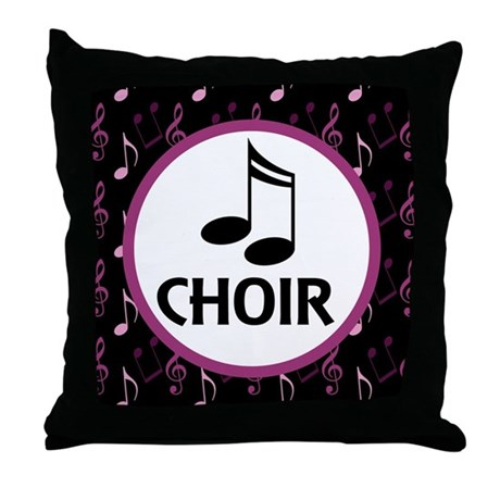 Choir Musical Notes Throw Pillow