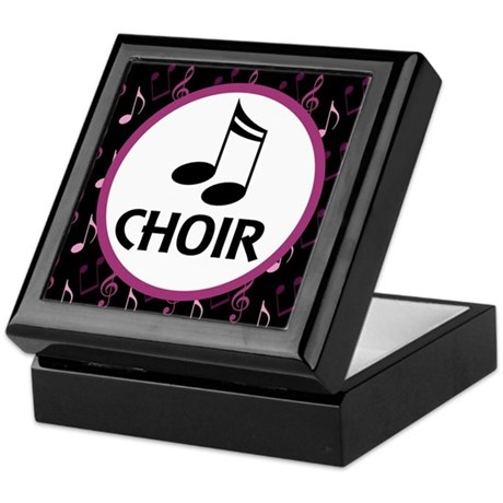 Choir Musical Notes Keepsake Box