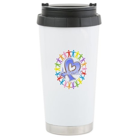 Stomach Cancer Unite Ceramic Travel Mug