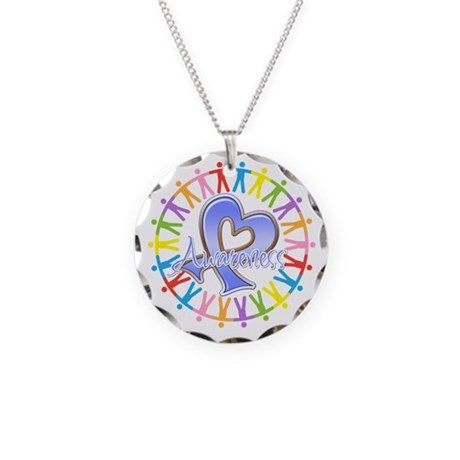 Stomach Cancer Unite Necklace Circle Charm
