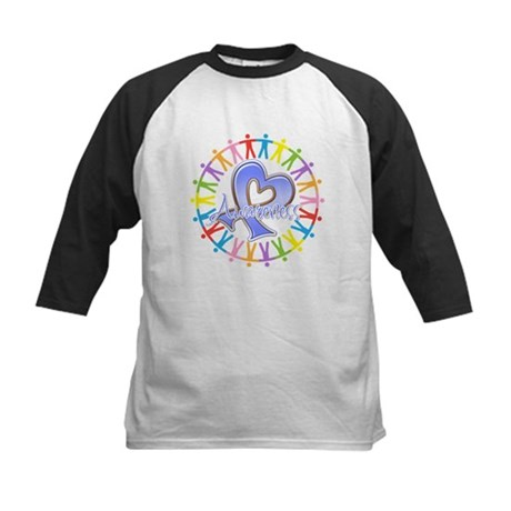 Stomach Cancer Unite Kids Baseball Jersey