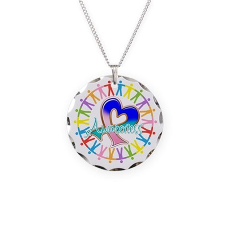 Thyroid Cancer Unite Necklace Circle Charm