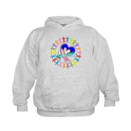 Thyroid Cancer Unite Kids Hoodie