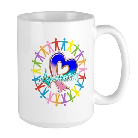 Thyroid Cancer Unite Large Mug