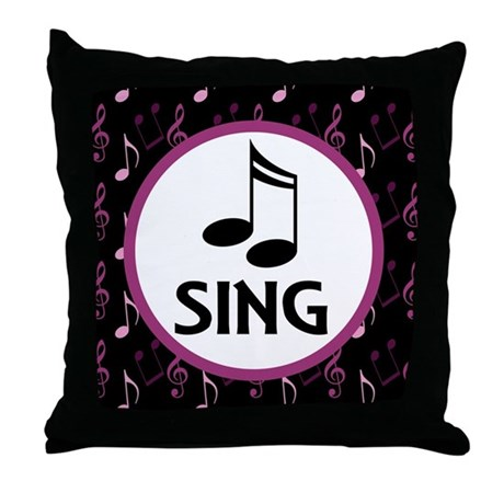 Sing Choir Music Throw Pillow