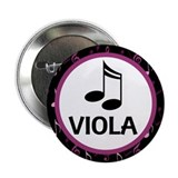 "Viola Music Notes 2.25"" Button"